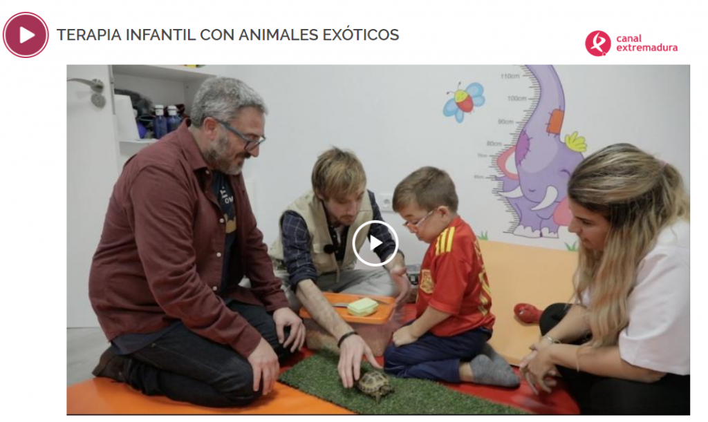 Canal Extremadura. Terapia Infantil con Animales Exóticos